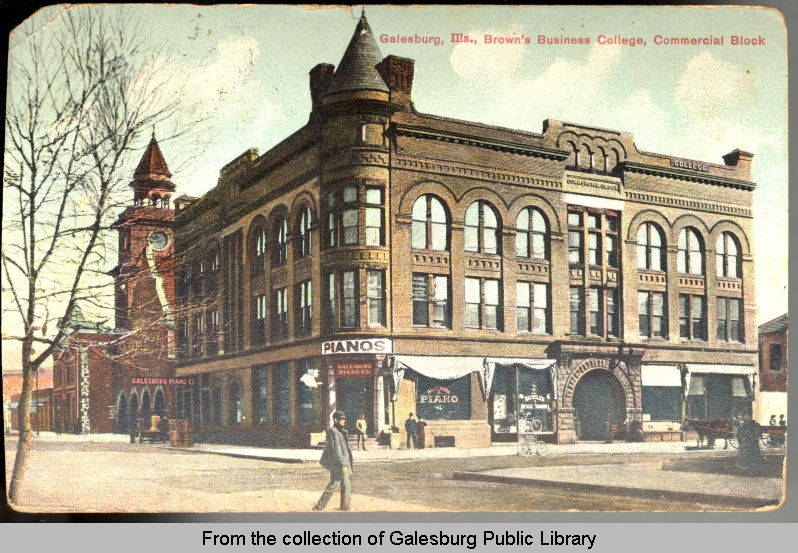 Brown's Business College - Galesburg, IL - ca. 1905