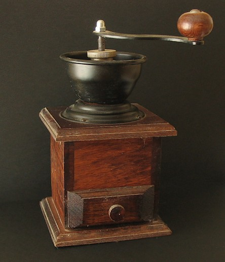 Late 19th century burr mill coffee grinder