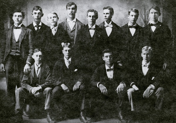 Galesburg's Dirty Dozen - Willis E. Calkins, Back row, 4th from left