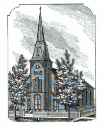 First Swedish Lutheran Church, Galesburg, 1870