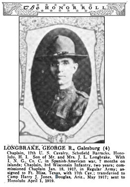 George R. Longbrake (b.1875) Knox County Honor Roll, 1917-1918-1919, p.175, img#4, p.176