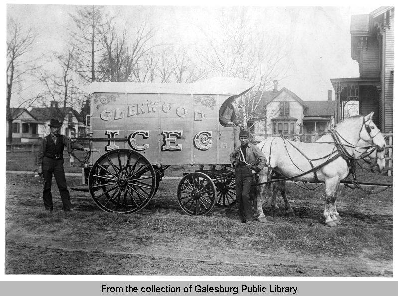 Glenwood Ice Company (ca. 1890).  From the collection of the Galesburg Public Library