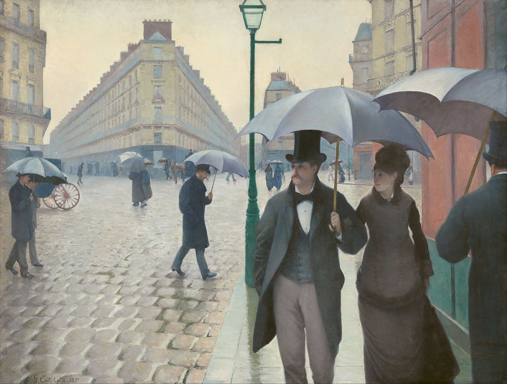 Gustave Caillebotte - Paris Street; Rainy Day (Art Institute of Chicago)
