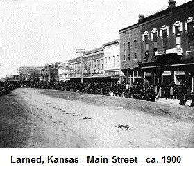 Larned, Kansas - Main Street - ca. 1900