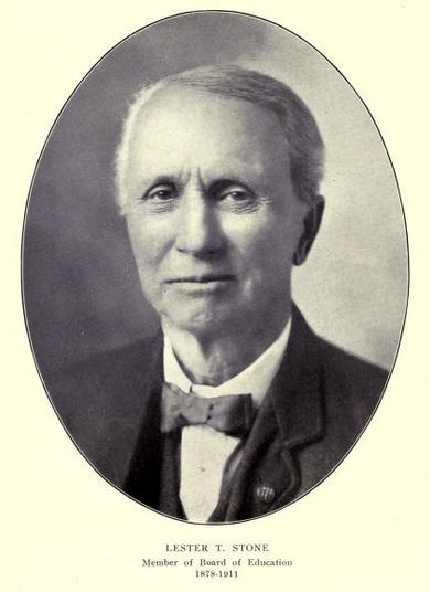 Lester T. Stone, Galesburg Board of Education, 1878-1911