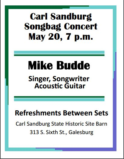 Mike Budde - Songbag Concert - May 20, 2017, 7:00pm