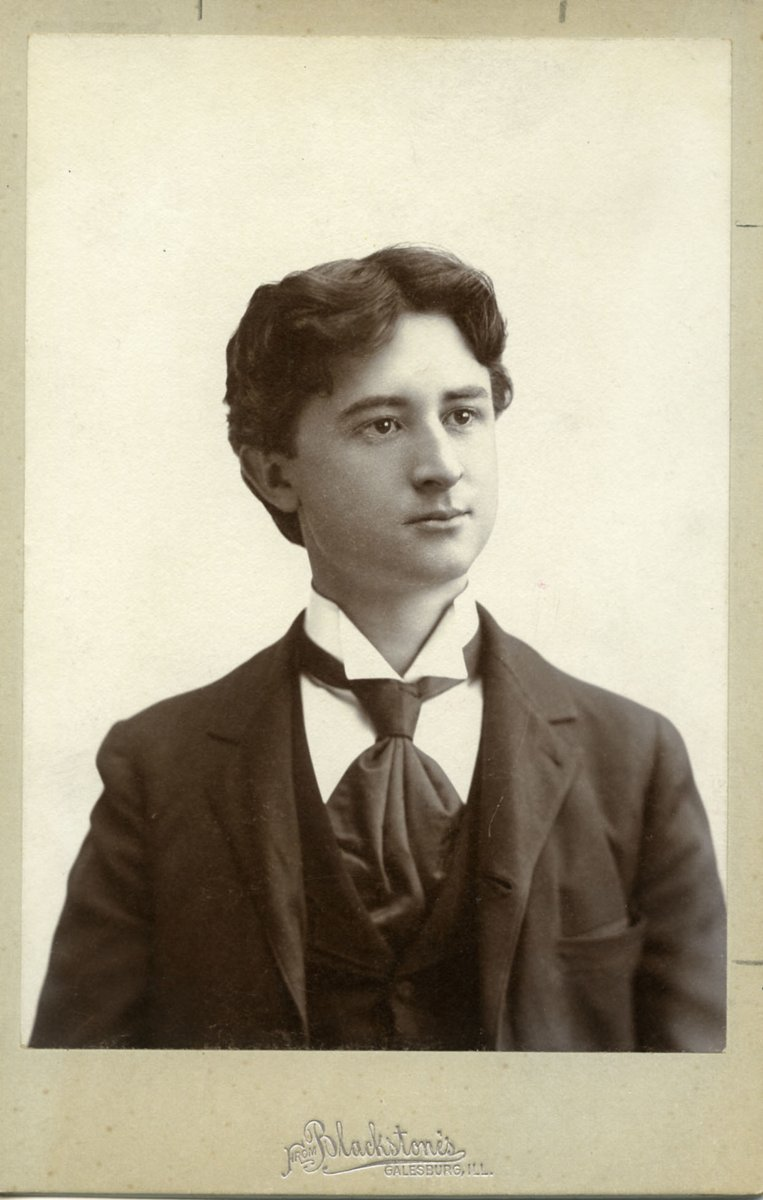 Otto Harbach - Knox College graduation photo - 1895