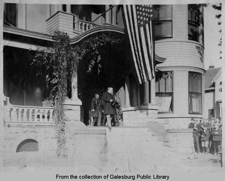President McKinley at the home of Clark E. Carr, Galesburg, IL