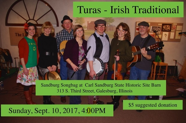 Fall 2017 Songbag Concerts - Turas - Sunday, Sept 10, 2017, 4:00-6:00pm