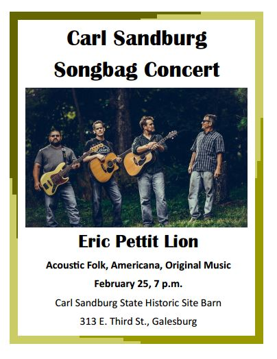 Songbag Concert - 25 Feb 2017 - 7:00pm / Eric Pettit Lion