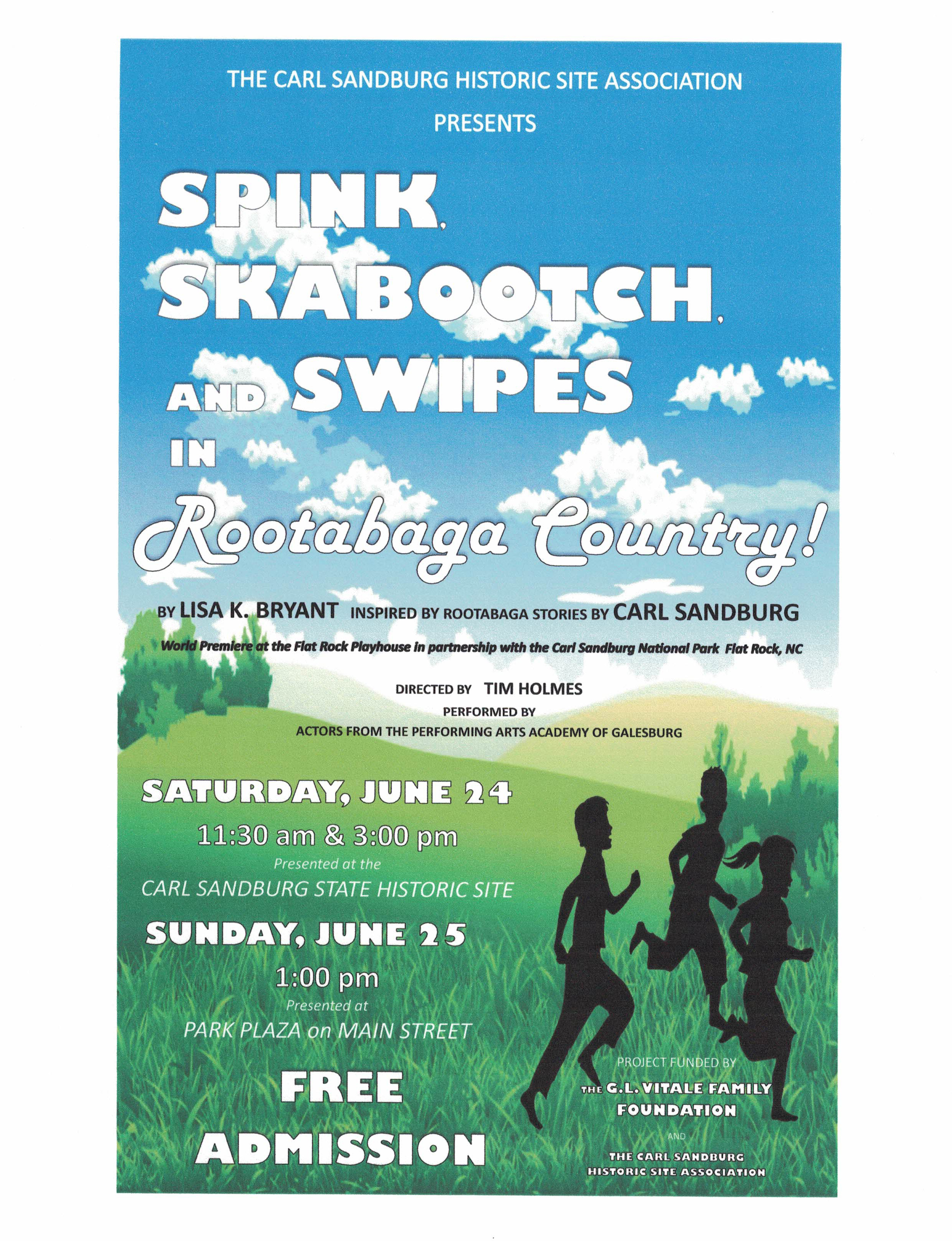Spink, Skabootch, & Spinks in Rootabaga Country - Carl Sandburg Theater Troupe Performances - June 24-25 - Galesburg